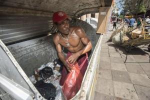 Muellsammler-Bewegung in Brasilien