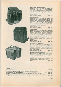 4 Rucksäcke 1958