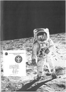 Badge auf dem Mond