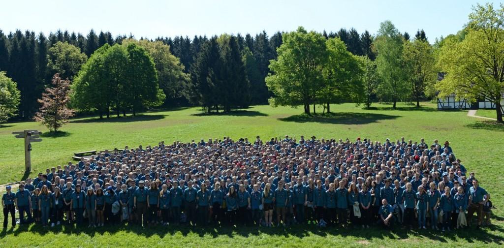 Das deutsche Kontingent trägt erstmals eine einheitliche Jamboree-Tracht