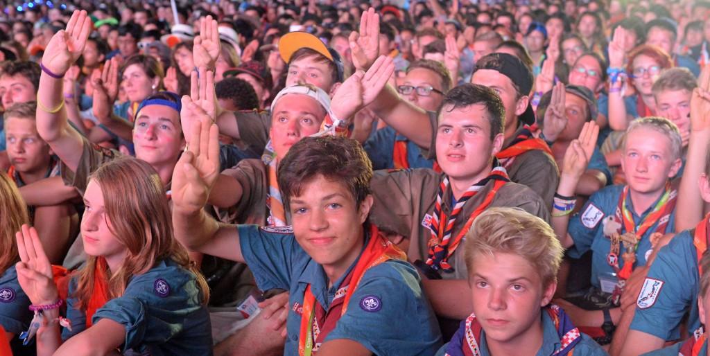 Closing Ceremony auf dem Jamboree 2015. Foto: Deutsches Kontingent