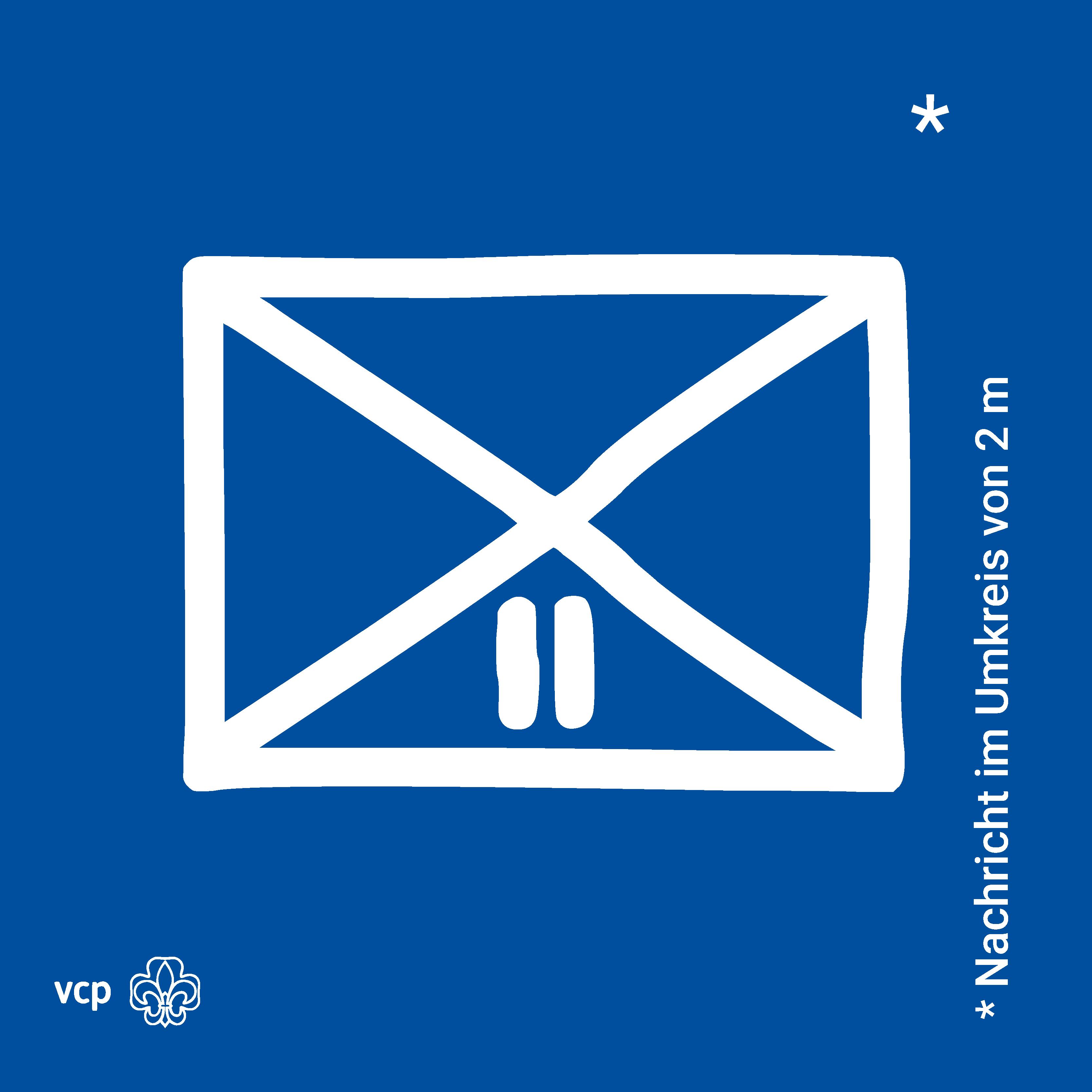 Nachricht in 2m Umkreis: VCP-Waldläuferzeichen