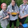Kürbissuppe mit Möhren und Kartoffeln