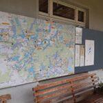 neue Infotafel mit Landkarte